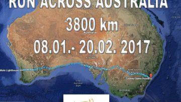 Mapa - ACROSS AUSTRALIA 2017